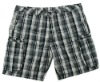 Customized Men's Causal Shorts With Check Printing And Side Pockets