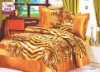 100% polyester satin comforter set/tiger pattern