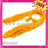 2013 Newest Bali Yarn Fresh Yellow Seashell Pendant Scarf with Jewels