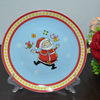 "10.5""PORCELAIN COUPE CAKE PLATE WITH CHRISTMAS DECAL"