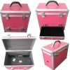 pink PU surface hard tool case