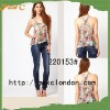 Tank women fashion blouse and top for 2012 summer 220153#