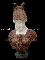 marble bust statue (Stone or bronze carving)