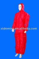 Disposable PP Coverall with Hood,Elastic Cuff and Zipper