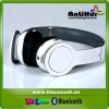 White headhand stereo bluetooth headset