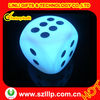 Light up rainbow LED color flashing game dice