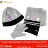 2012 Fashion Knitted Hat Scarf Glove Set