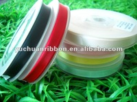 "3/8""Polyester solid color satin gift ribbon"