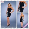 2431-1hs Chic Two Pieces White and Black Spaghetti Strap Short Mini tea party dresses women