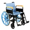 Manual Plastic wheelchair with detachable long armrest