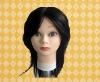 long human haird training mannequin head