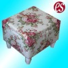 Hot popular wooden sewing box with cloth tray and floral fabric covered