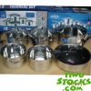 Lot#: K1350010 stocks 12pcs stainless steel pan