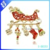 2012 new design china cheap wholesale alloy christmas custume brooches