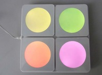 led coaster colorful led light coaster with great quality