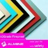 FR A2 acp aluminum composite panel decorative fireproof wall board