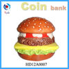 Ceramic pigg bank in the shape of hamburger