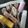 natural wooden loofah bath brush body back brush belt