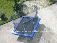 Square Trampoline with safety enclosure