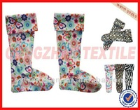 100% polyester printed polar fleece socks
