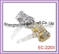EC-2203 Earphone Ear Cap Dock Dust Plug,Works on all (3.5mm) headphone jack.