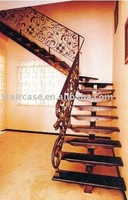 indoor straight wrought iron stairs