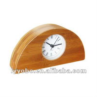 Retro Chinese CE Household Bamboo Table Clock YBB-007