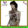 Beautiful lady long printed scarf