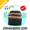 Beanie Hat with Built-in Headphones (Retro Rasta)