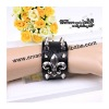 fashion wristband fleur de lis design leather wristband