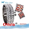 Men Women LED Watch Lava Style Iron Samurai Metal Blue Red light W13