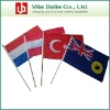 Union Jack Polyester Fabric Hand Held Waving Flags Polyester Flag