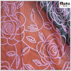 Flower flocking on polyester mesh fabric for garments