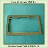 Plastic Chrome License Plate Frame (Shiny Silver Color, US size)