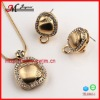 TL1041-1 JINGMEI 2013 WHOLESALE 18k GOLD BRIDAL JEWELRY SET