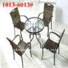 Poly rattan chair of rattan garden furniture set (1013#-6013#)
