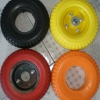 Wheel barrow pu foam wheels for different colors