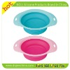 2012 New design silicone folding dog bowl with FDA standard