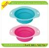 2012 New design silicone folding dog bowl with FDA standard