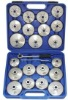 23 pcs Oil Filter Cap Wrench Cup Socket Tool Set