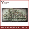 Classical Ginkgo metal flower wall plauqe decor