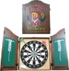 Dartboard Cabinet Set with Realistic Walnut Finish