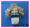 Toolless RJ45 CAT6 10GB fiber optic keystone jack connector
