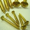 Carbon Steel Copper Plating Cross Recessed Pan Head Tapping Screws for plastics