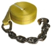 Heavy Duty Cargo Winch Strap With Chain Anchor