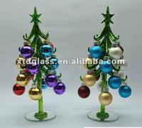 Glass ornament tree