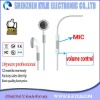 White earphone with MIC and volume control earphone replacement for earphone