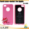 2012 New arrival !!! hard case + metal phone case for iphone 4 S (YF-A-005)