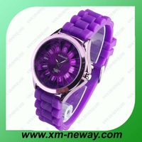 Multicolor petal round silicone round well watch waterproof