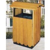 wooden trash,dustbin,waste can